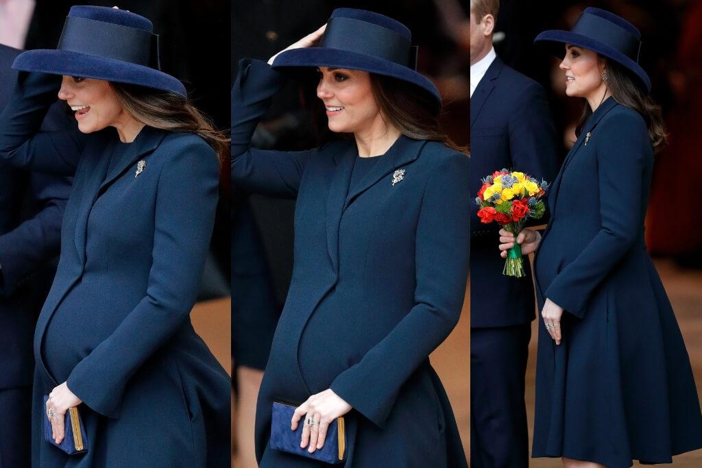 kate middleton pregnant navy outfit