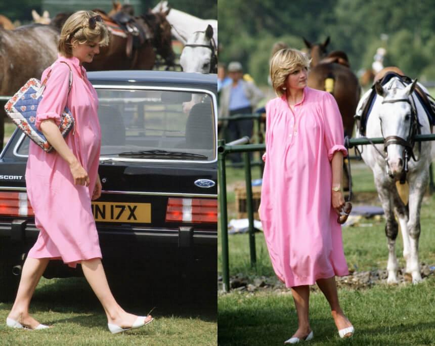 princess diana pregnant pink