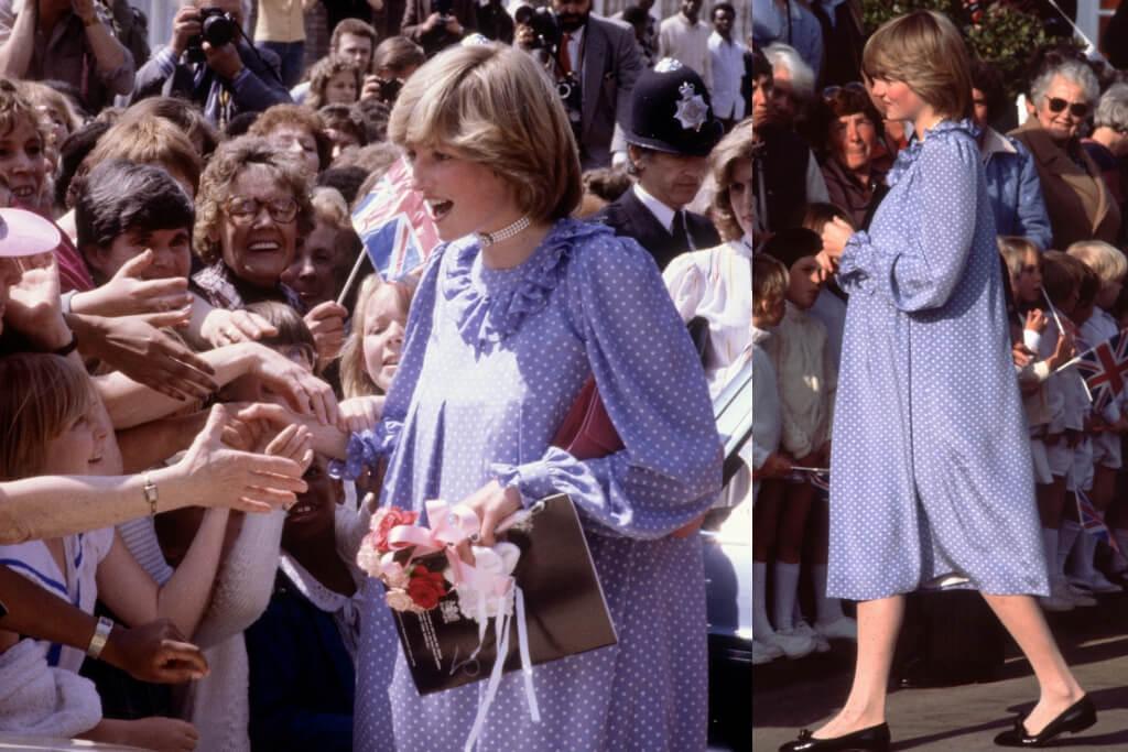 princess diana pregnant polka dots