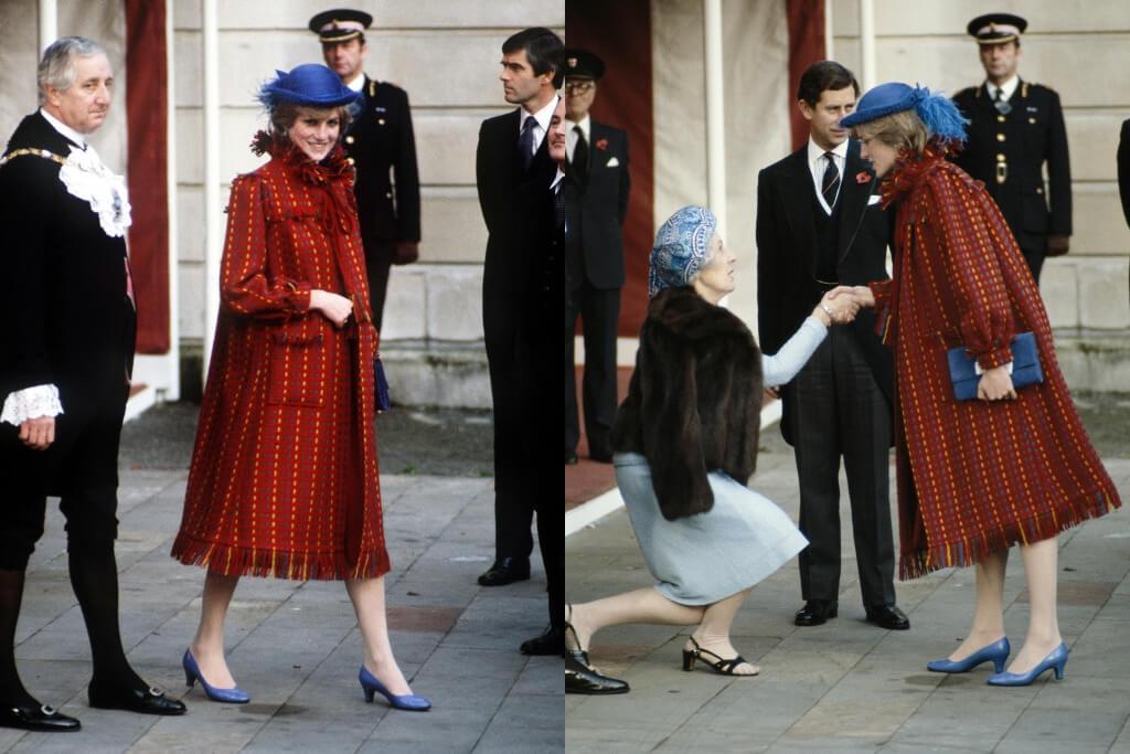 princess diana pregnant red and blue