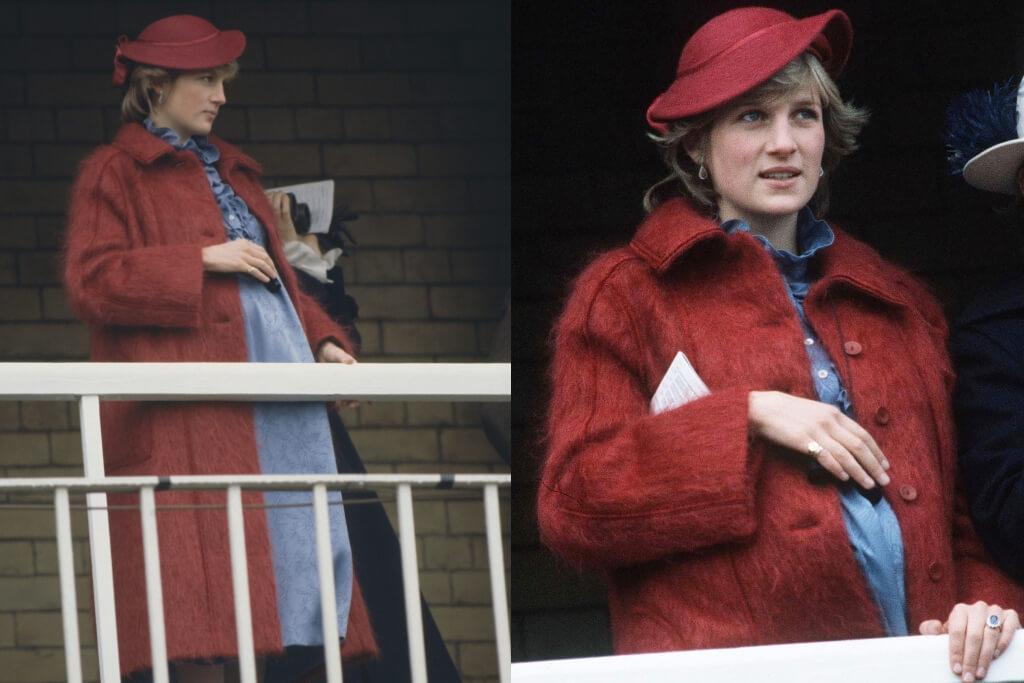 princess diana red jacket pregnant