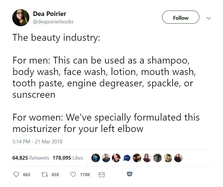 beauty industry men and women