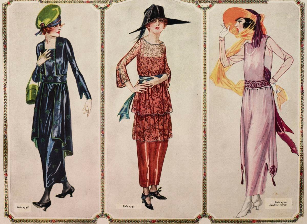 illustration from the magazine Le Miroir des Modes 1920s fashion