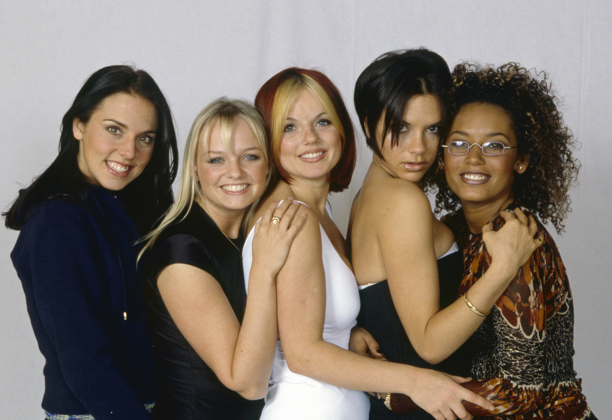 The Spice Girls smiling