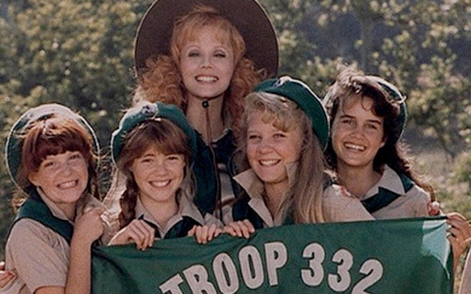 Carla with girls Troop Beverly Hills