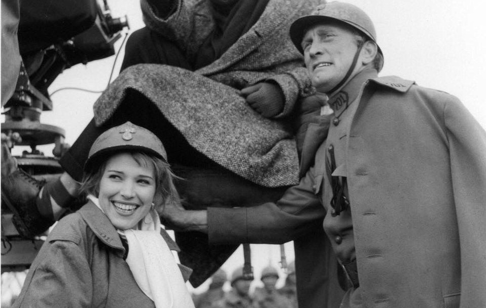 Christianne Susanne and Stanely Kubrick and Kirk Douglas on Paths of Glory