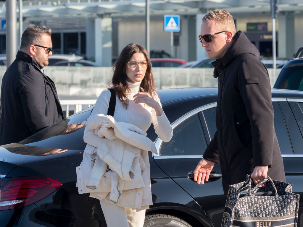 Bella at the airport
