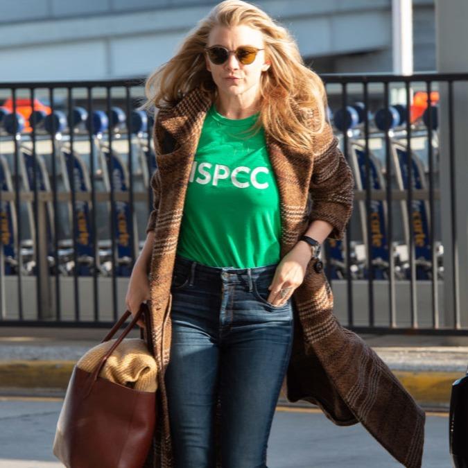 Natalie in a green t-shirt