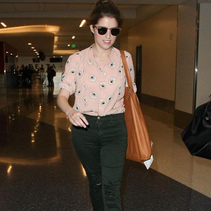 Anna Kendrick wearing sunglasses