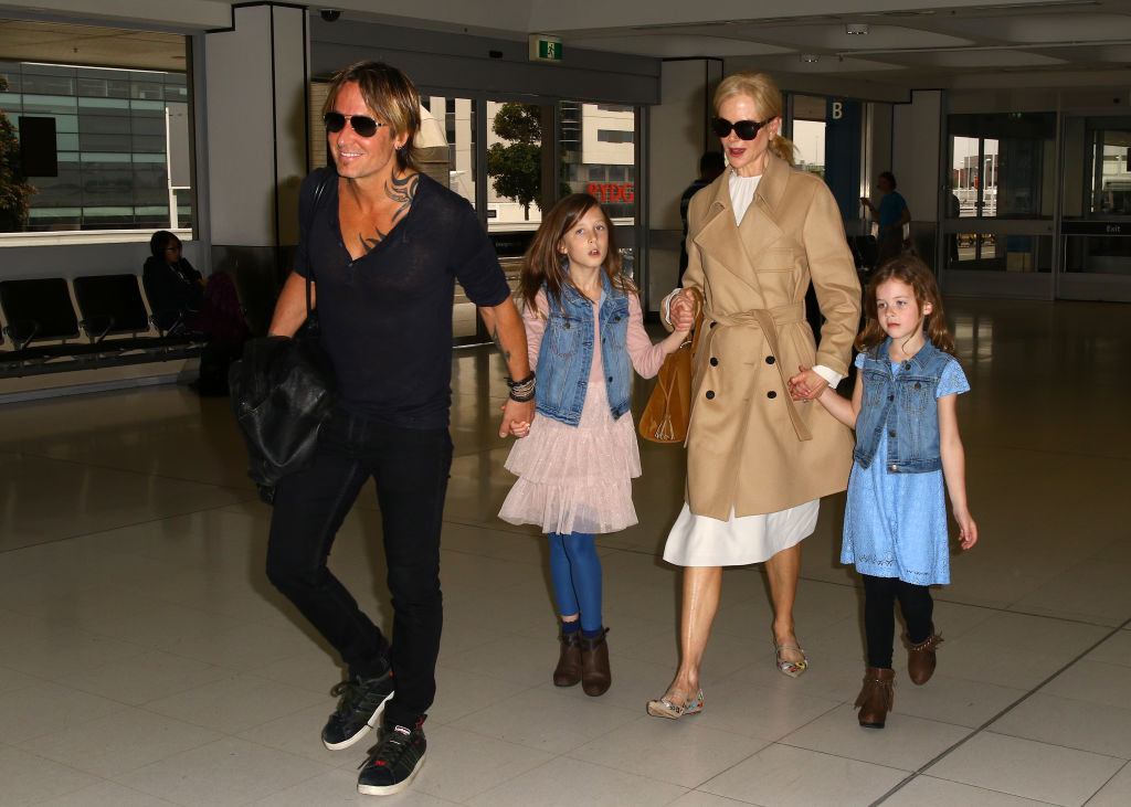 Nicole Kidman and family at the airport