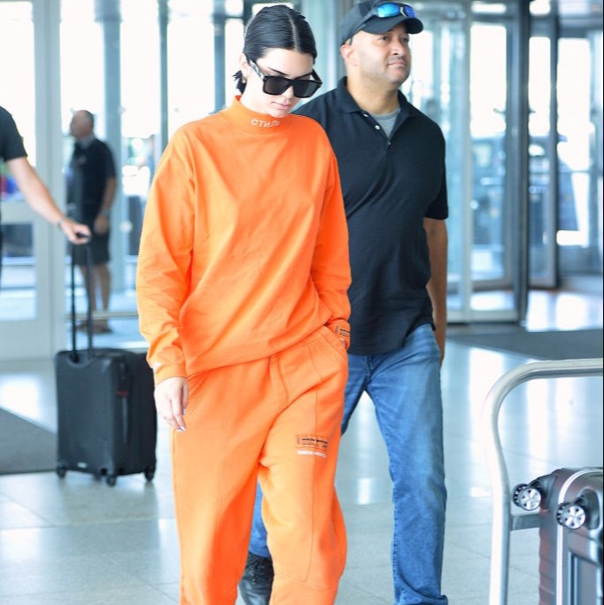 Kendall goes for a bright outfit