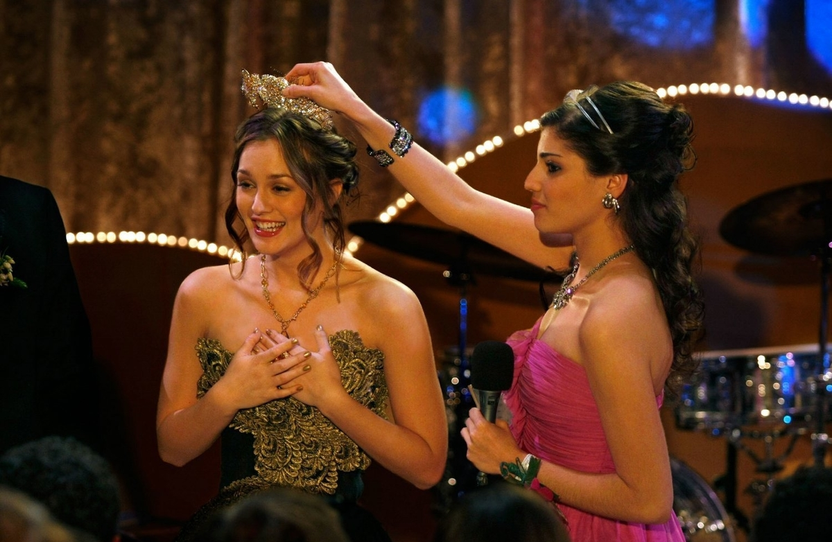 blair gossip girl prom black and gold