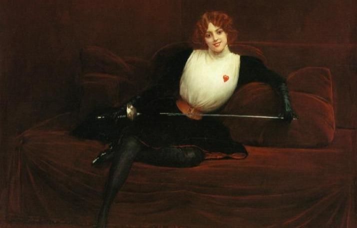 julie d'aubigny la maupin painting