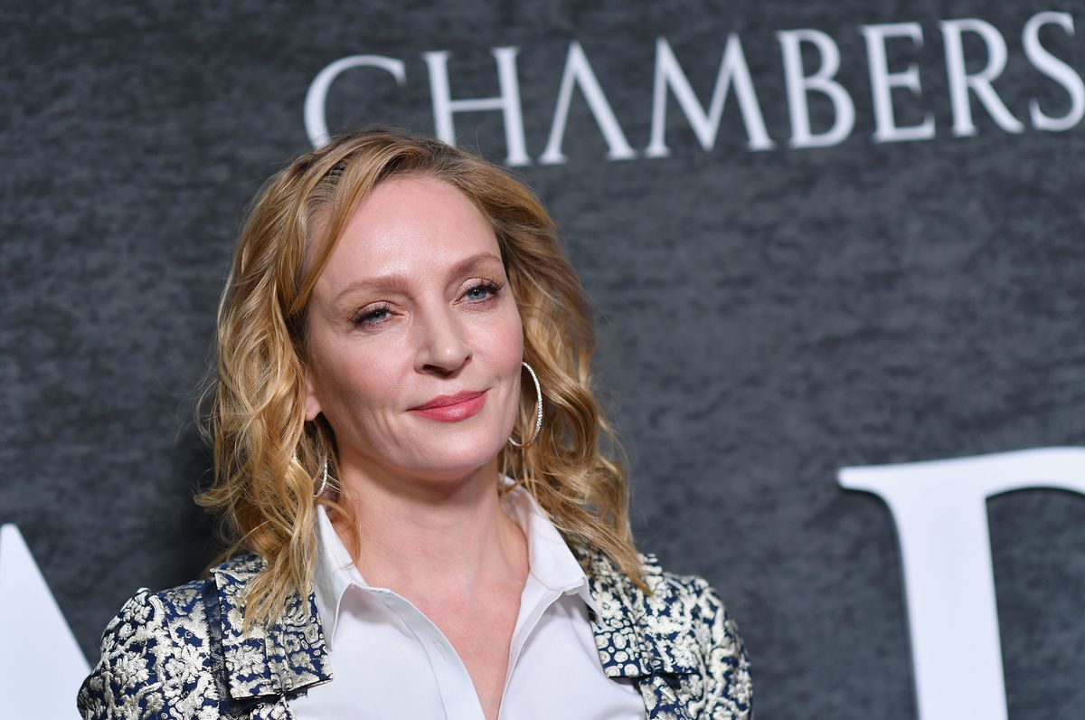 Actress Uma Thurman attends the premiere of Netflix's