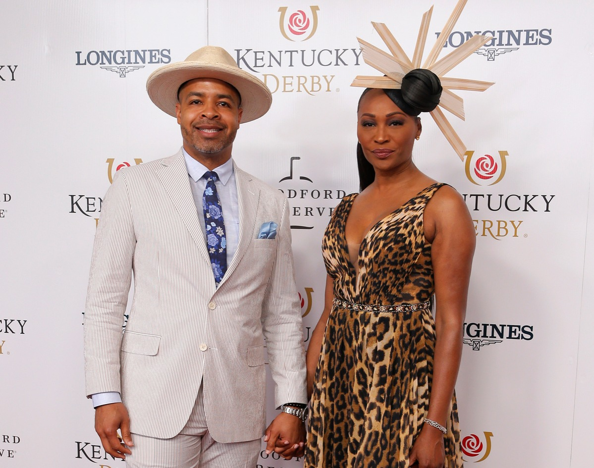 Mike Hill and Cynthia Bailey walk the red carpet prior to the145th running of the Kentucky Derby on May 4, 2019 at Churchill Downs, in Louisville, KY.