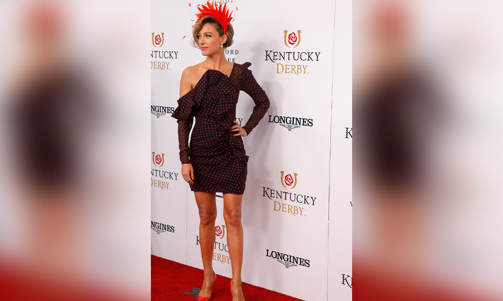 Natalie Zea walks the red carpet prior to the 145th running of the Kentucky Derby on May 4, 2019 at Churchill Downs, in Louisville, KY.