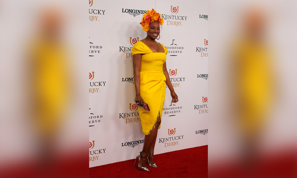 NeNe Leaks walks the red carpet prior to the145th running of the Kentucky Derby on May 4, 2019 at Churchill Downs, in Louisville, KY