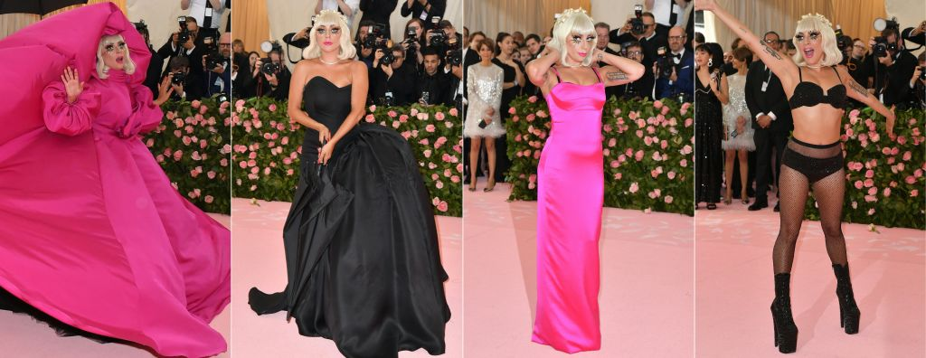 lady gaga 2019 met gala four outfits