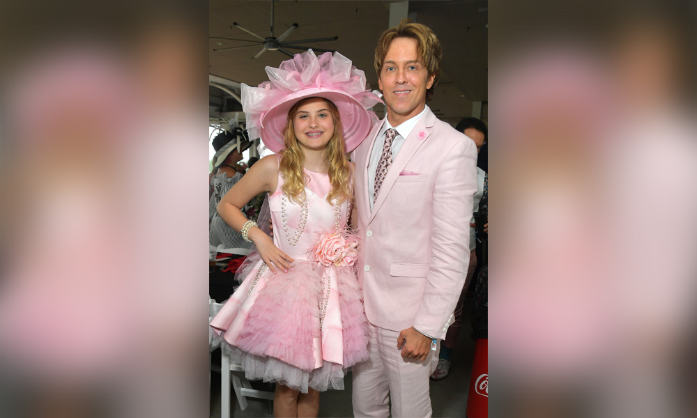 Larry Birkhead and Dannielynn Birkhead attend the 145th Kentucky Derby at Churchill Downs on May 04, 2019 in Louisville, Kentucky.