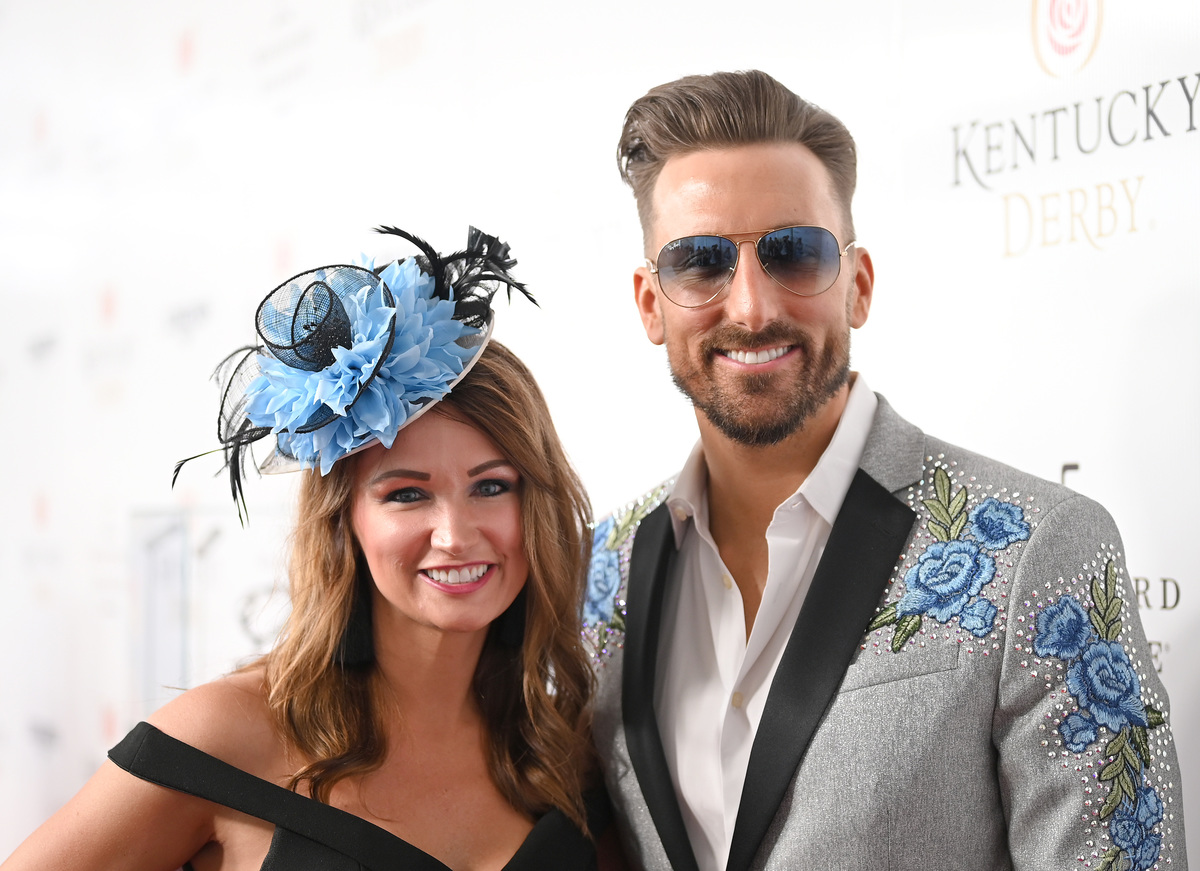 J.D. Shelburne and guest attend the 145th Kentucky Derby at Churchill Downs on May 04, 2019 in Louisville, Kentucky.