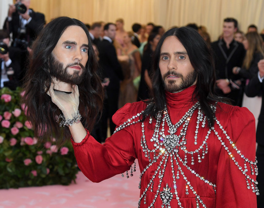 jared leto 2019 met gala with his own head