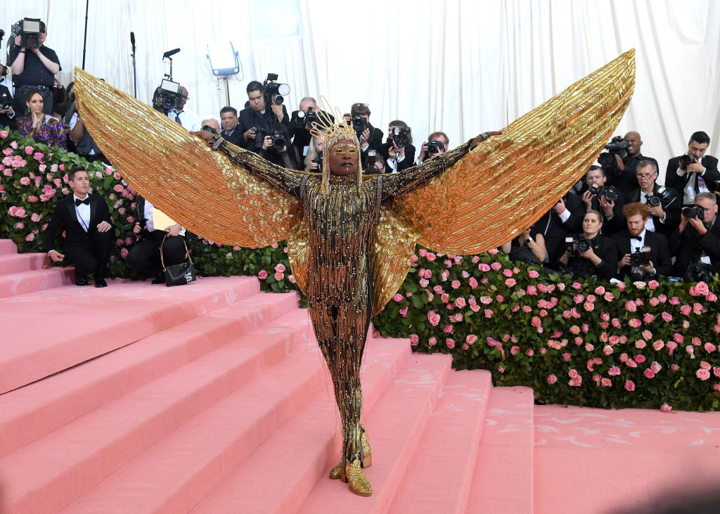 billy porter 2019 met gala gold winged outfit