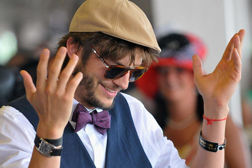 Ashton Kutcher attends the 138th Kentucky Derby at Churchill Downs