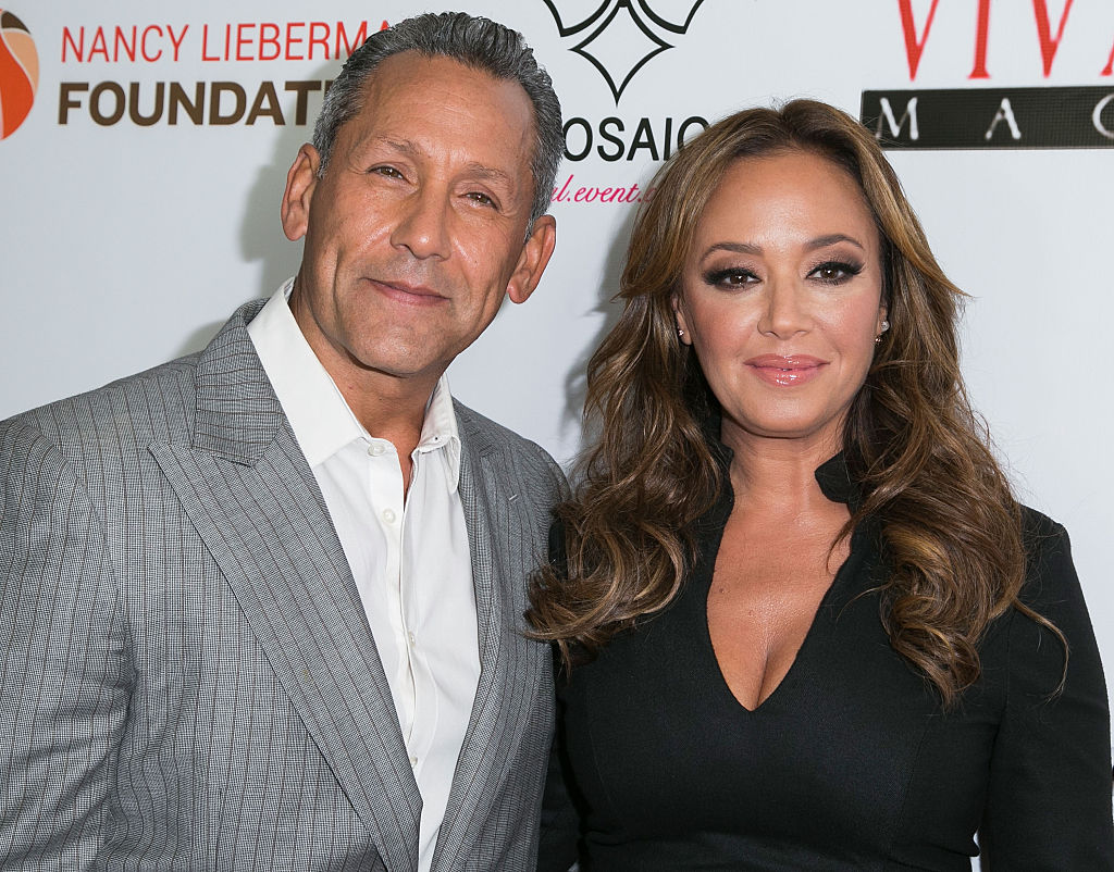 angelo pagan Leah Remini attend the launch of VIVA GLAM