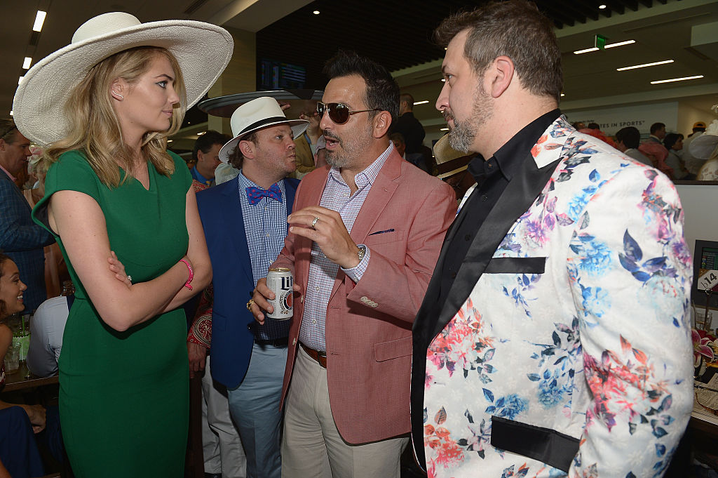 Kate Upton and Joey Fatone are seen around the 142nd Kentucky Derby