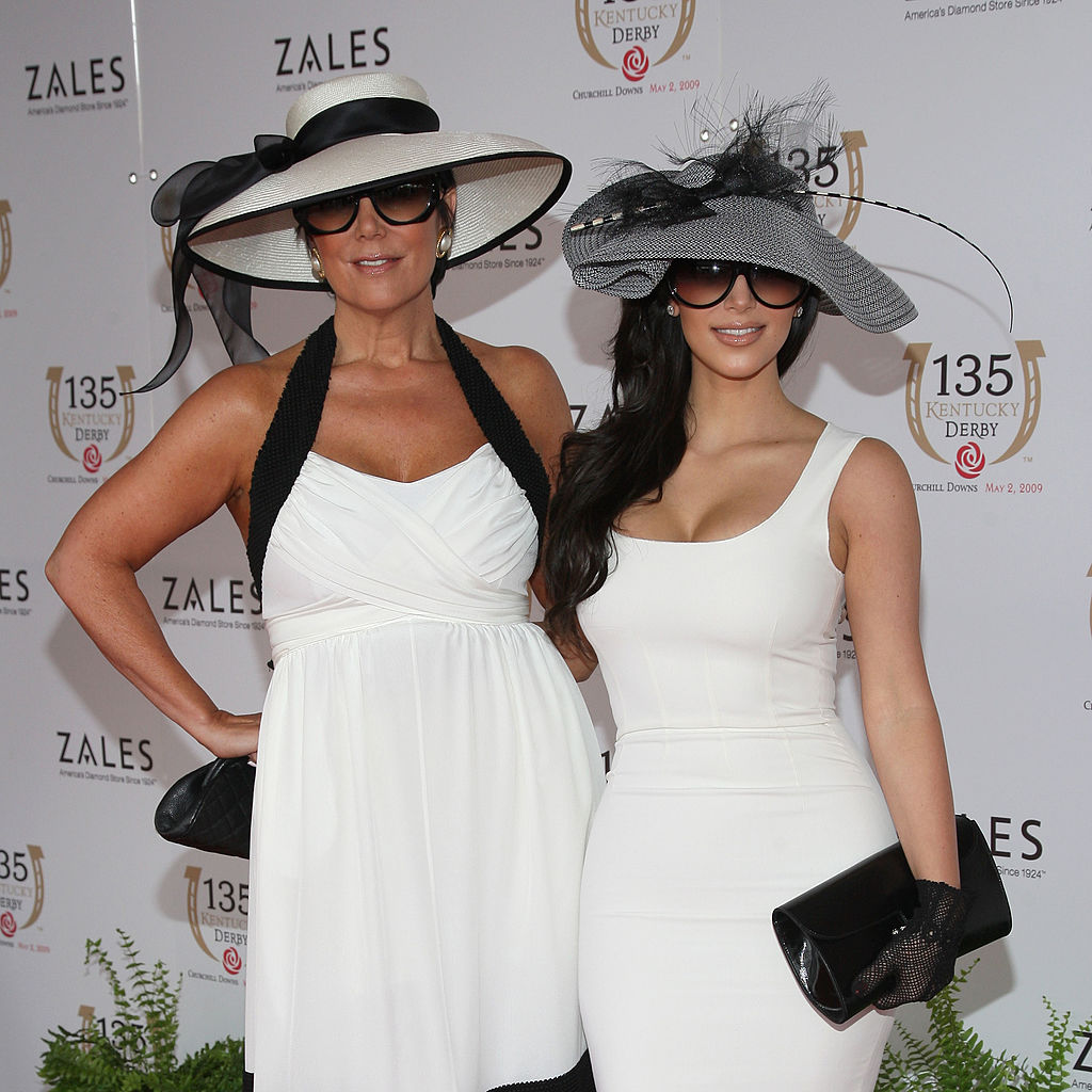 Kris Jenner and Kim Kardashian attend the 135th Kentucky Derby
