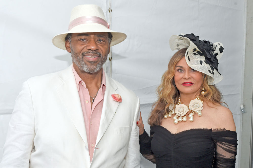 Robert Lawson and Tina Knowles attend The 144th Annual Kentucky Derby at Churchill Downs on May 5, 2018 in Louisville, Kentucky