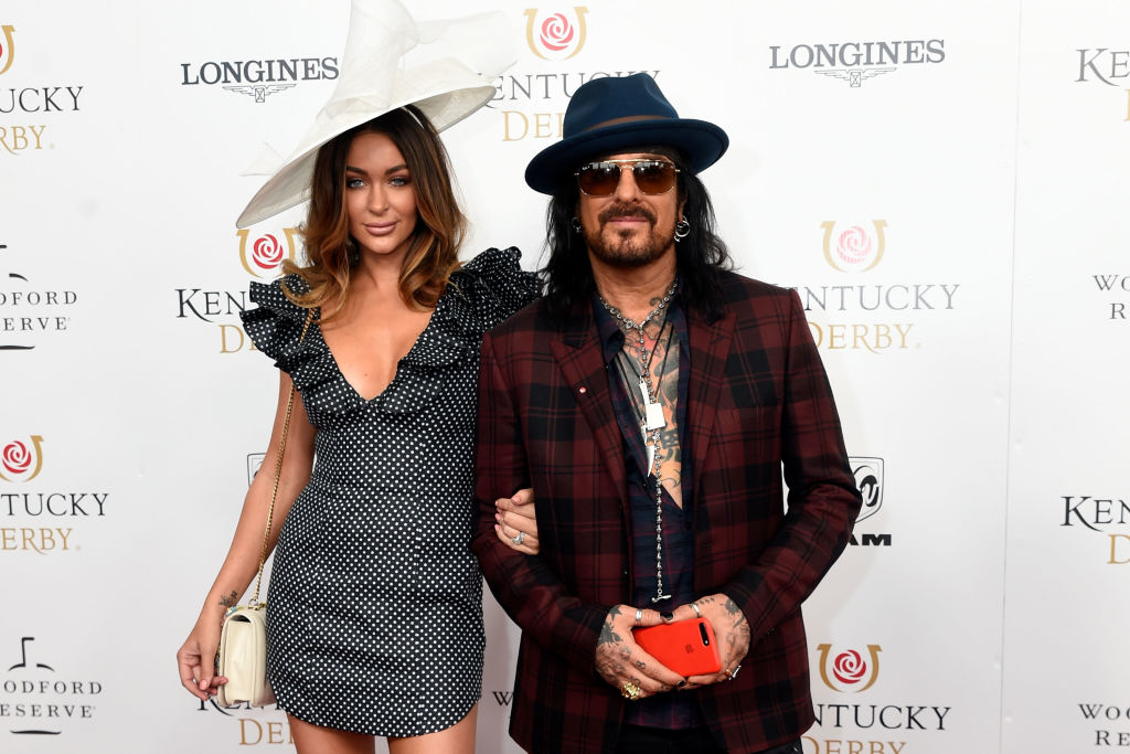 Courtney Sixx and Nikki Sixx attends The 144th Annual Kentucky Derby