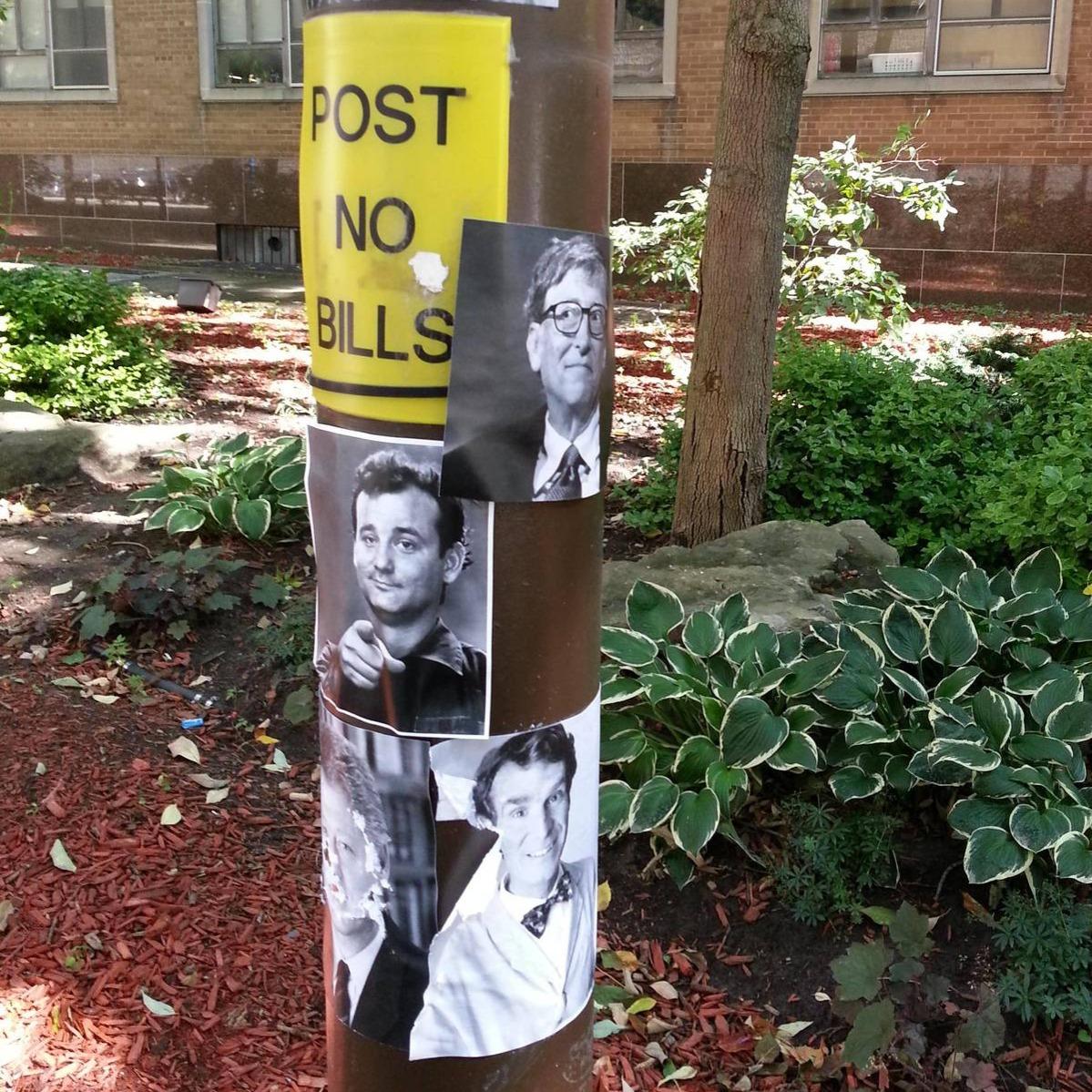 post no bills pictures of famous bills