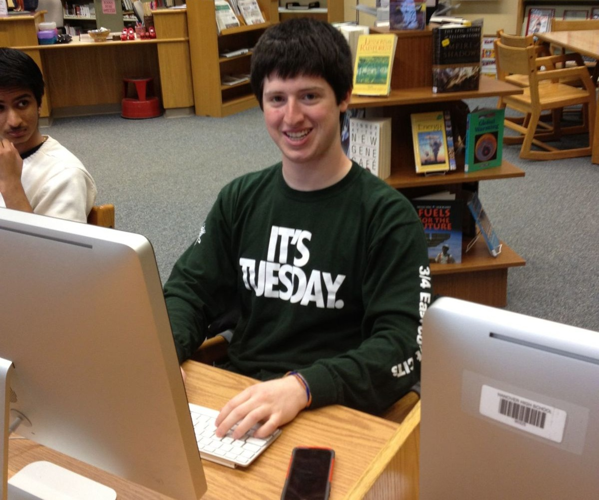 student wears tuesday shirt on wednesday