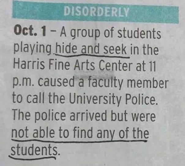pro hide and seek university