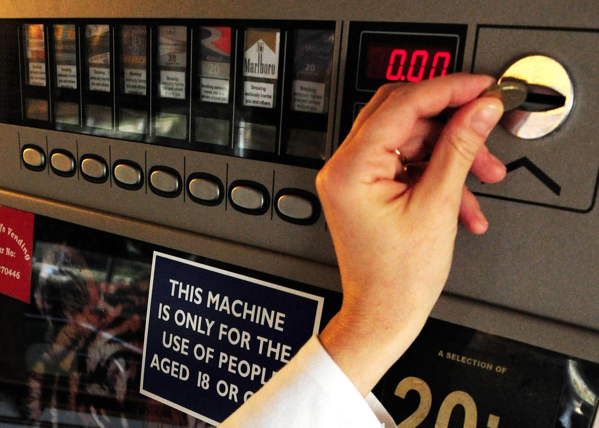 Cigarette vending machine ban