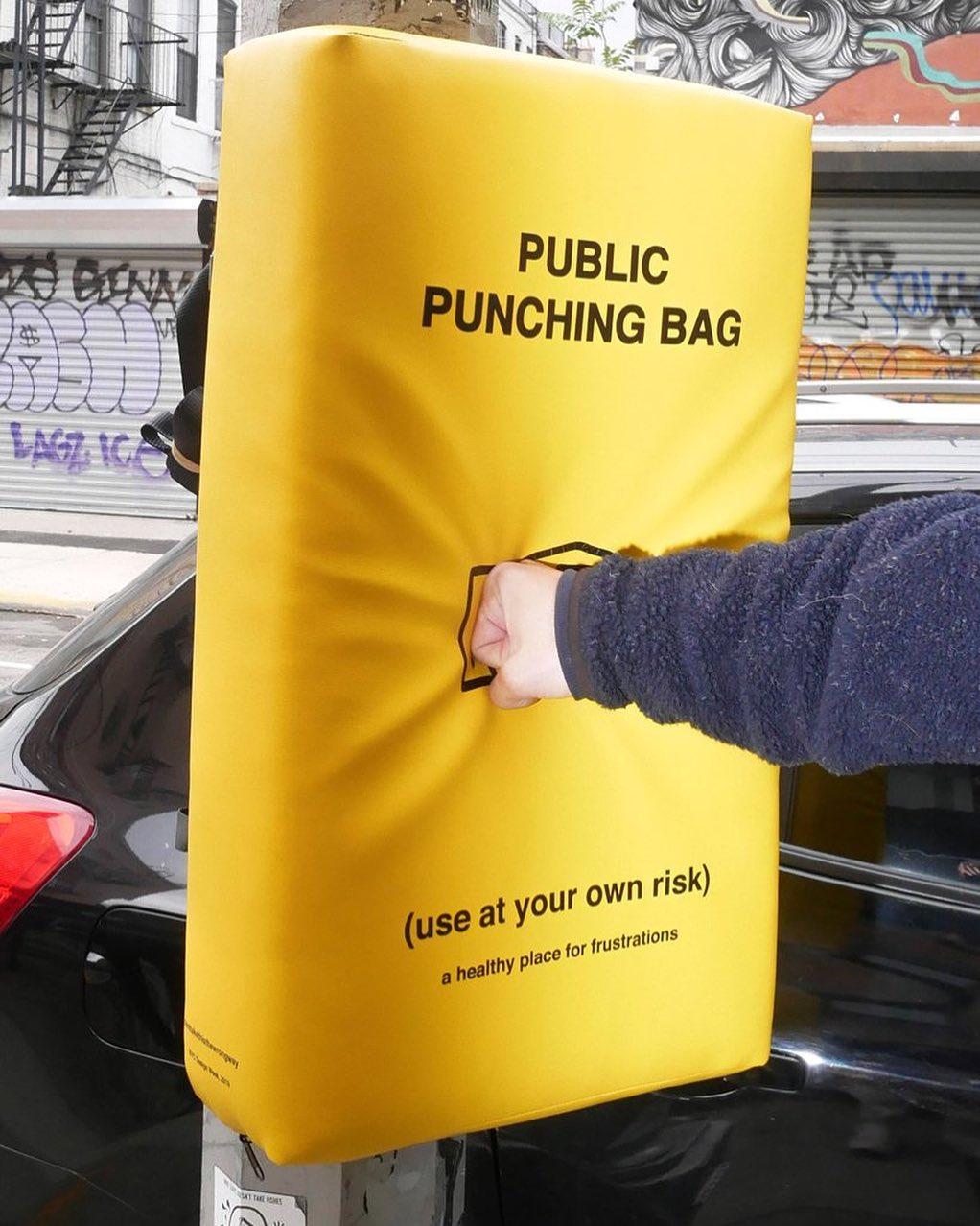 @designboomcn punching bag in lower manhattan