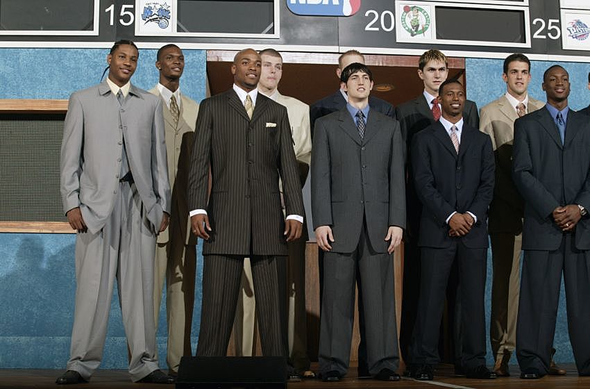 ill fitting suits at the 2003 nba draft