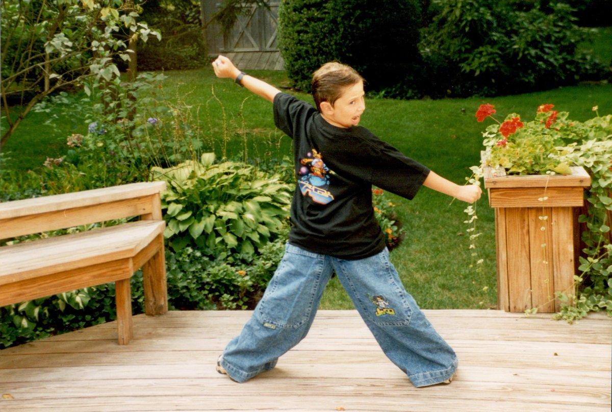 young zach kornfeld wearing JNCO jeans