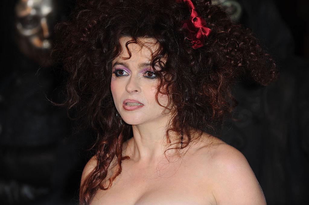 helena bonham carter wearing dark lip liner