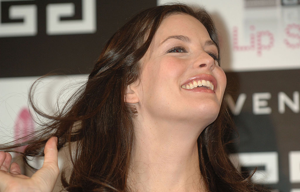 Liv Tyler during Parfums Givenchy's New Lipstick