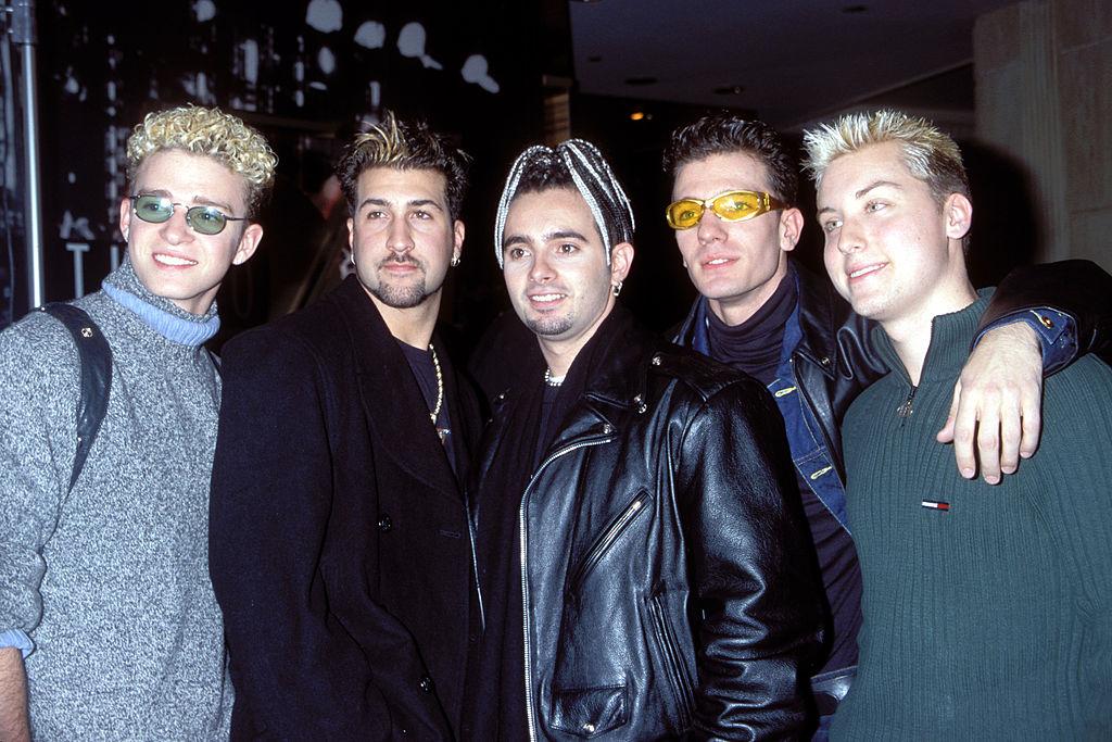 N'Sync attending 1998 Billboard Music Awards