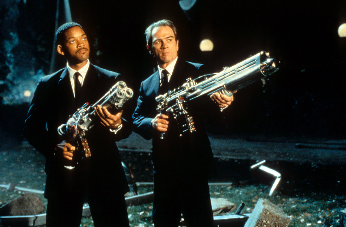 Tommy Lee Jones and Will Smith in Men in Black, 1997