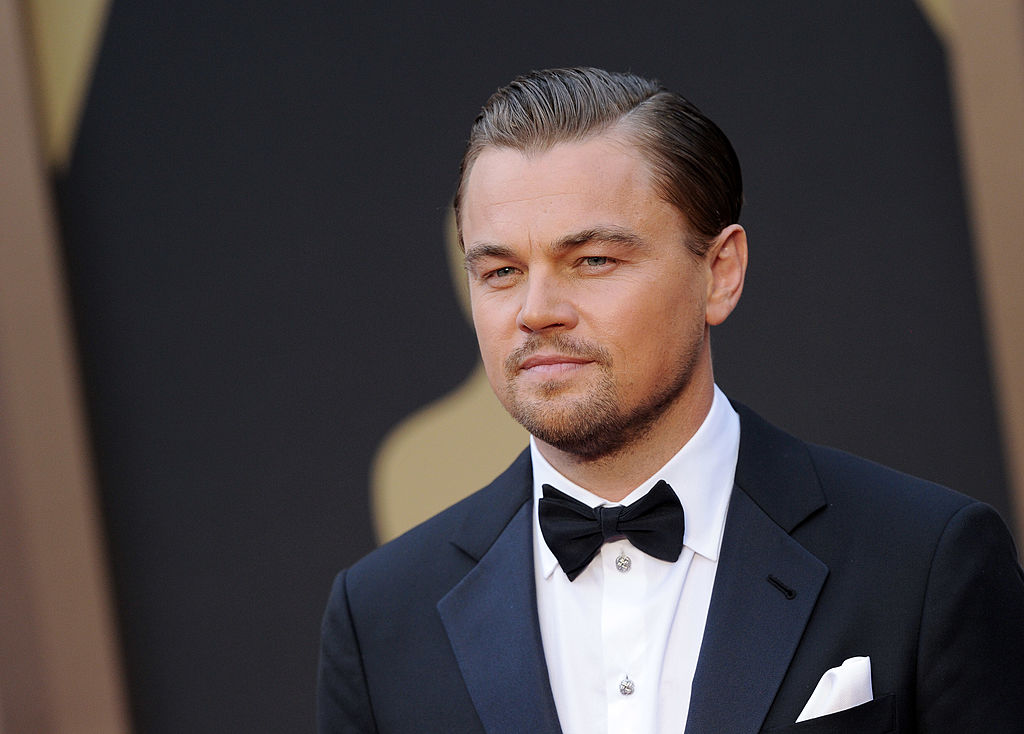 Leonardo DiCaprio arrives at the 86th Annual Academy Awards at Hollywood & Highland Center