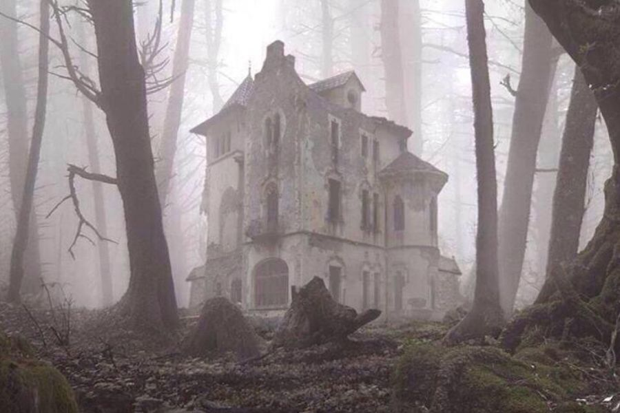 haunted mansion woods decrepit