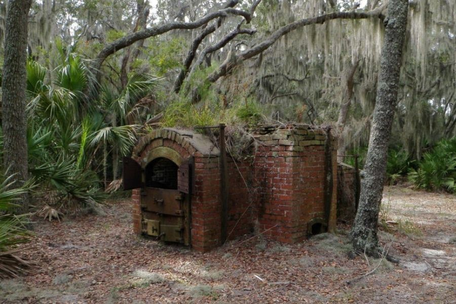 abandoned crematorium middle of the woods