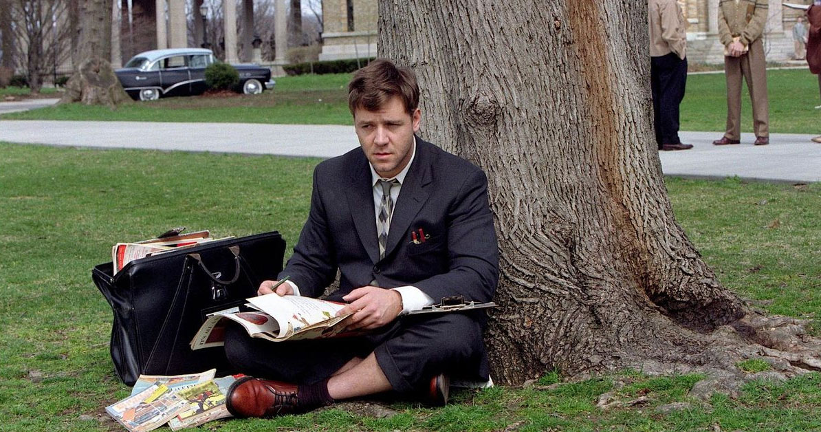 russell crowe in a beautiful mind biopic film