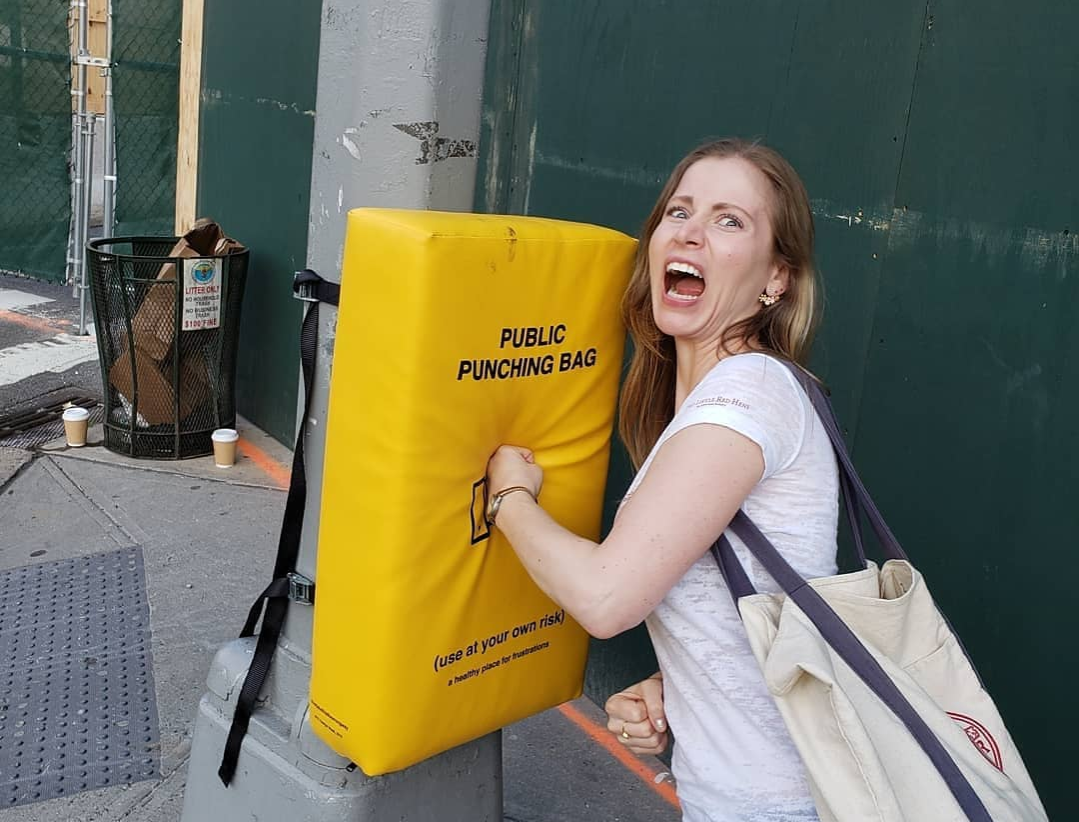 public punching bag in new york