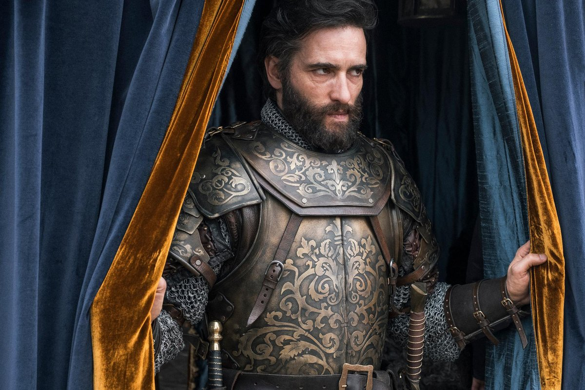 knightfall character through curtains