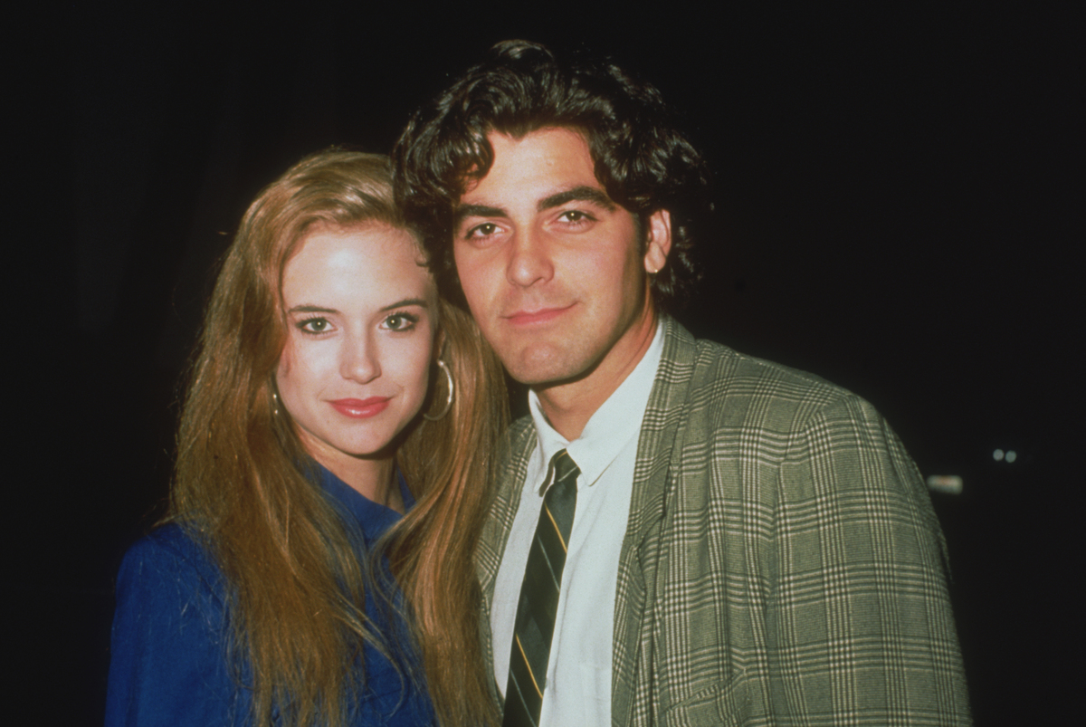 George Clooney with Kelly Preston in 1985 at event